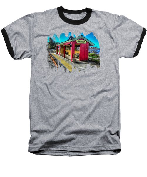 Baseball T-Shirt featuring the photograph Norm Laknes Train Station by Thom Zehrfeld
