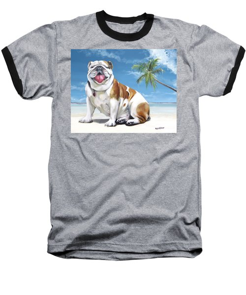 Norma Jean The Key West Puppy Baseball T-Shirt by Phyllis Beiser