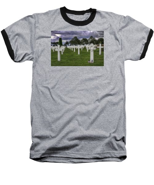Normandy American Cemetery Baseball T-Shirt