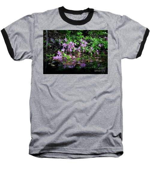 Norris Lake Floral 2 Baseball T-Shirt by Douglas Stucky