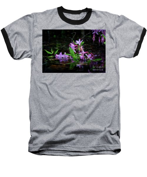 Norris Lake Floral Baseball T-Shirt by Douglas Stucky