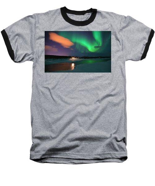 Norrsken 3 Baseball T-Shirt by Thomas M Pikolin