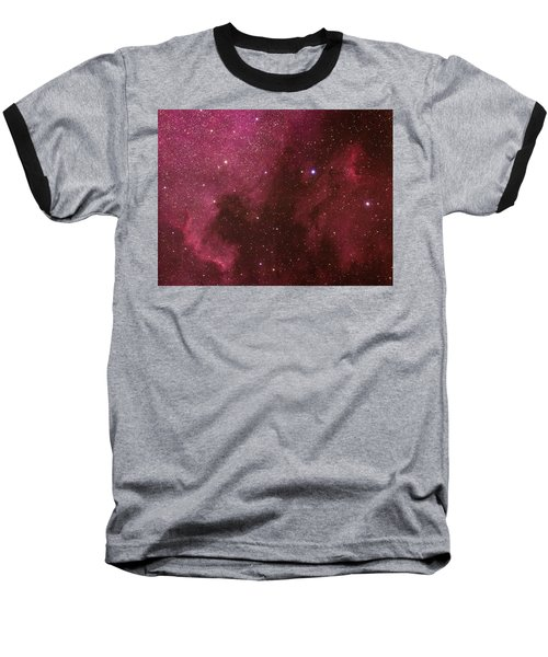 North American And Pelican Nebulas Baseball T-Shirt