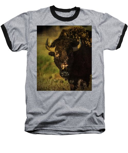 North American Buffalo Baseball T-Shirt