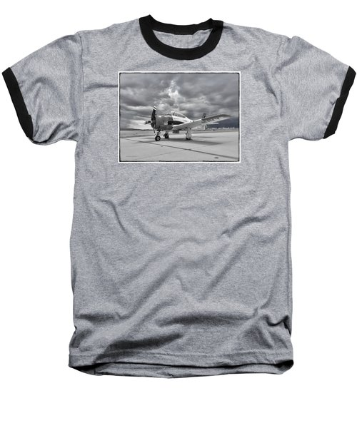 North American T-28 Baseball T-Shirt by Douglas Castleman