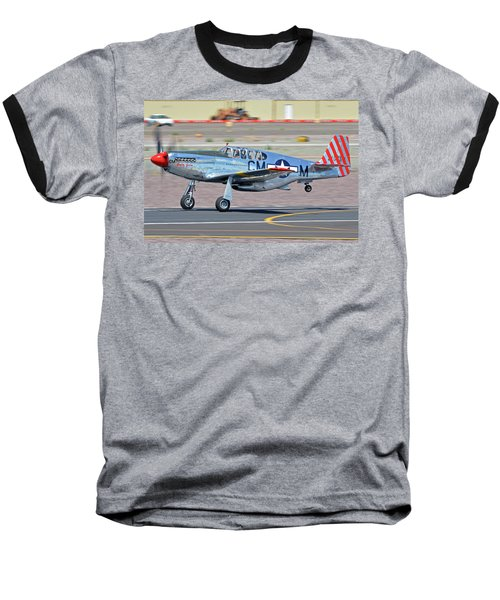 Baseball T-Shirt featuring the photograph North American Tp-51c-10 Mustang Nl251mx Betty Jane Deer Valley Arizona April 13 2016 by Brian Lockett