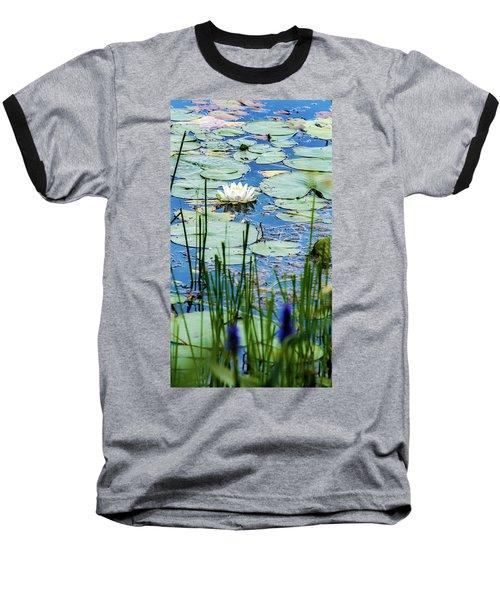 North American White Water Lily Baseball T-Shirt