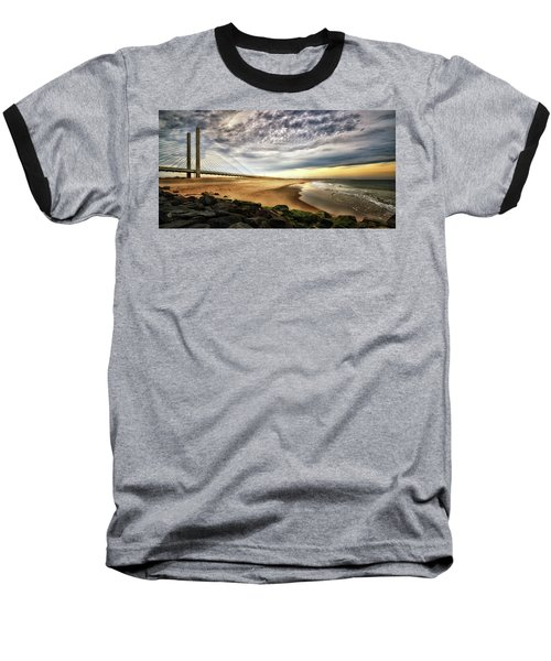 North Beach At Indian River Inlet Baseball T-Shirt