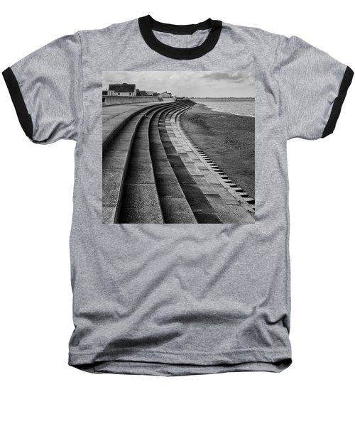 North Beach, Heacham, Norfolk, England Baseball T-Shirt by John Edwards