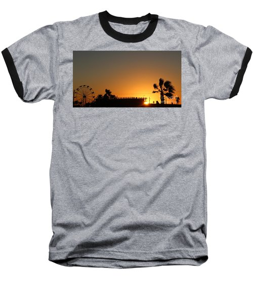 North Beach Sunset Baseball T-Shirt by Thomas OGrady
