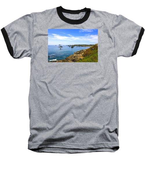 North California Coastline Baseball T-Shirt