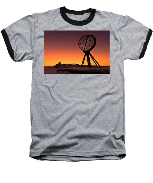 North Cape Norway At The Northernmost Point Of Europe Baseball T-Shirt