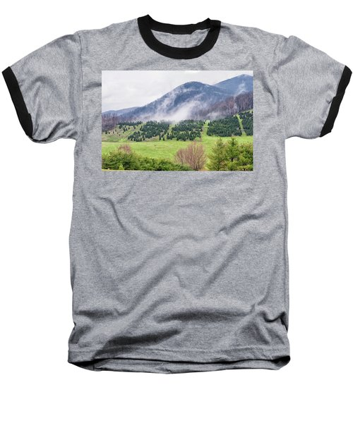 North Carolina Christmas Tree Farm Baseball T-Shirt