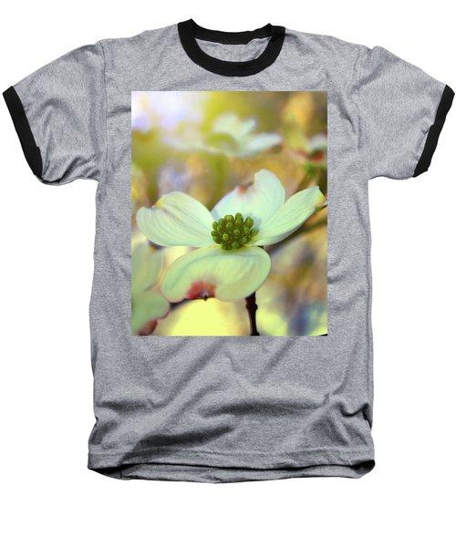 North Carolina Dogwood State Flower Baseball T-Shirt by Gray  Artus