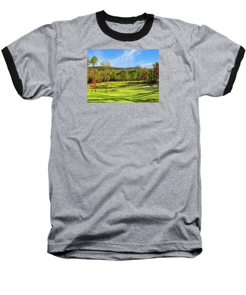 North Carolina Golf Course 14th Hole Baseball T-Shirt