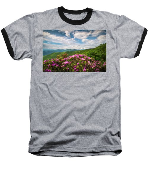 North Carolina Spring Flowers Mountain Landscape Blue Ridge Parkway Asheville Nc Baseball T-Shirt