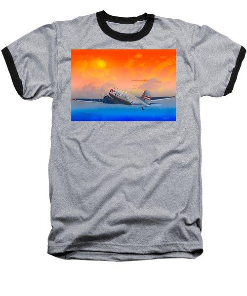North Central Dc-3 At Sunrise Baseball T-Shirt