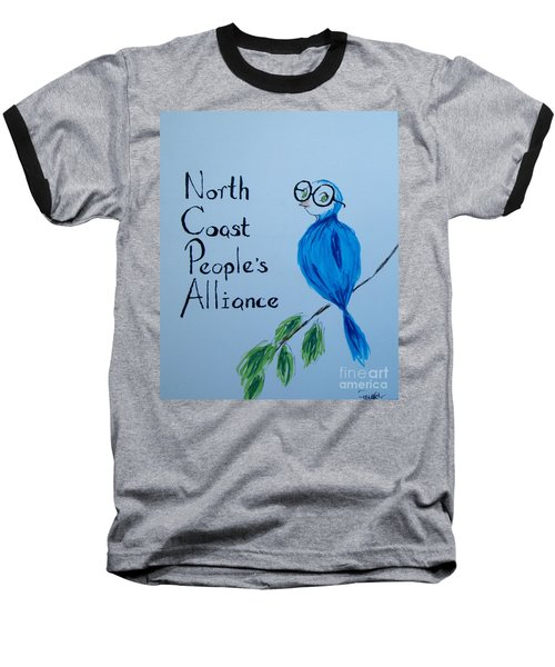 North Coast People's Alliance With Bernie Baseball T-Shirt