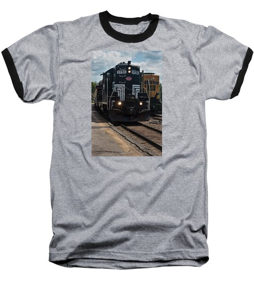 Conway Scenic Railroad - New Hampshire Baseball T-Shirt by Suzanne Gaff