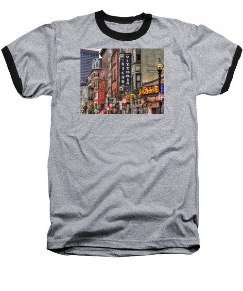 North End Charm 11x14 Baseball T-Shirt by Joann Vitali