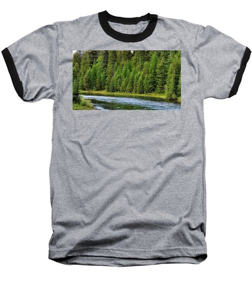 North Fork Of The Flathead Baseball T-Shirt