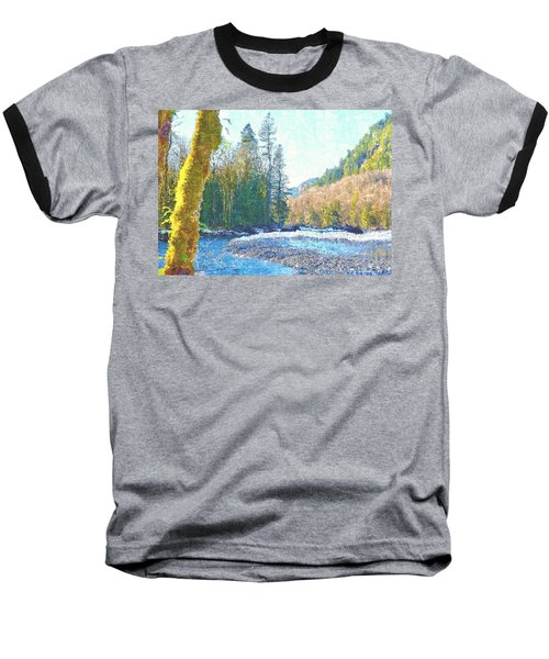 North Fork Of The Skykomish River Baseball T-Shirt by Tobeimean Peter