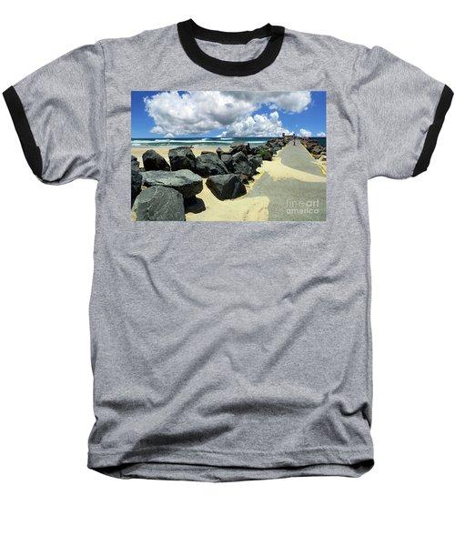 North Haven Breakwater Walkway By Kaye Menner Baseball T-Shirt