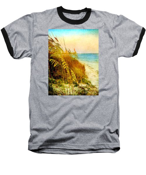Baseball T-Shirt featuring the digital art North Of River by Linda Olsen