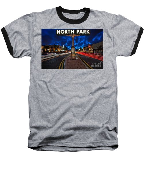 North Park Neon Sign San Diego California Baseball T-Shirt