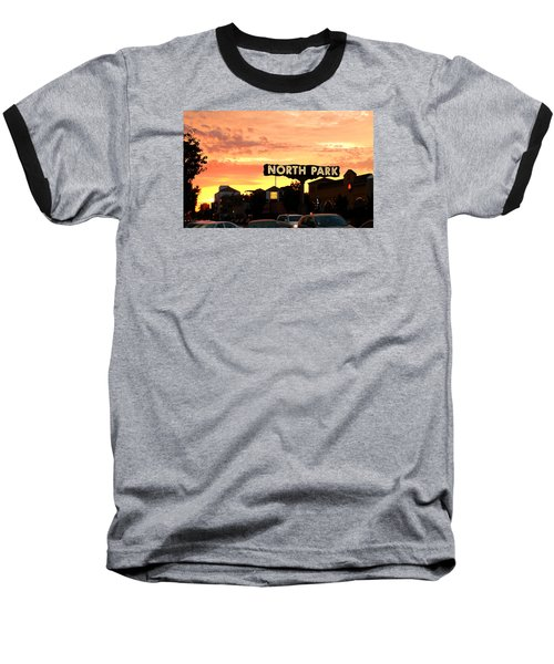Baseball T-Shirt featuring the photograph San Diego North Park Sun by Christopher Woods
