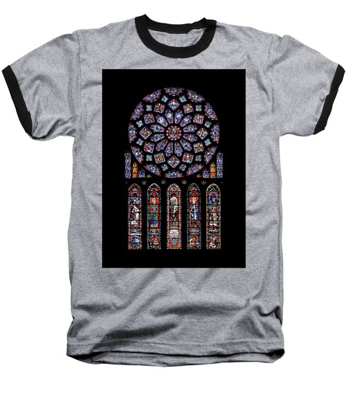 North Rose Window Of Chartres Cathedral Baseball T-Shirt