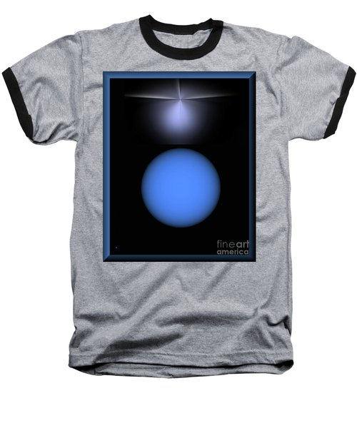 Baseball T-Shirt featuring the digital art North Star by John Krakora