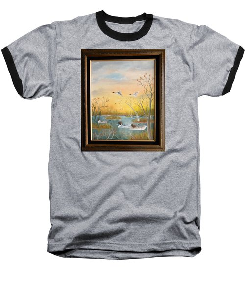 Northen Pintails Baseball T-Shirt by Al  Johannessen