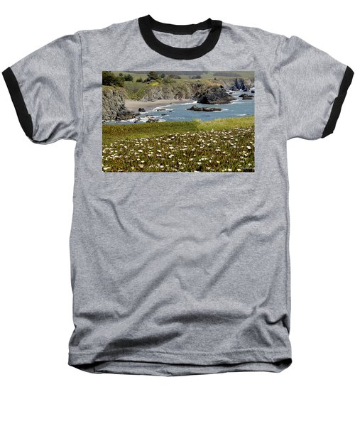 Northern California Coast Scene Baseball T-Shirt by Mick Anderson