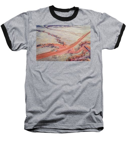 northern Colorado foothills aerial view Baseball T-Shirt