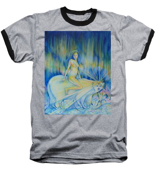 Baseball T-Shirt featuring the drawing Northern Dream by Anna  Duyunova
