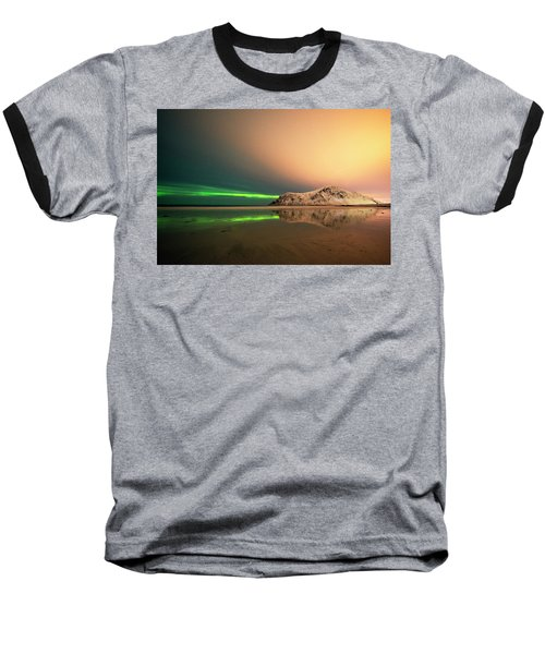 Northern Light In Lofoten Nordland 5 Baseball T-Shirt