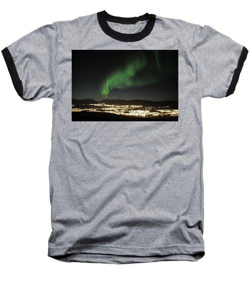 Northern Light In Troms, North Of Norway Baseball T-Shirt by Tamara Sushko