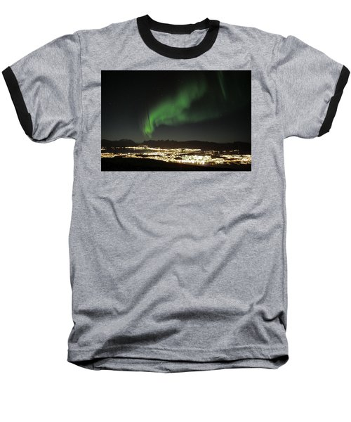 Northern Light In Troms, North Of Norway Baseball T-Shirt