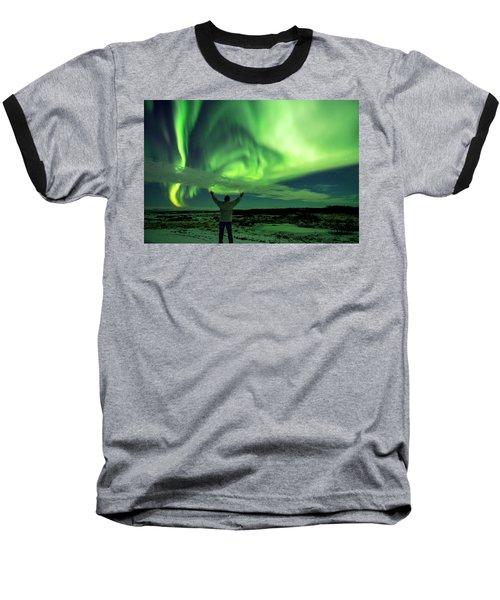 Northern Light In Western Iceland Baseball T-Shirt