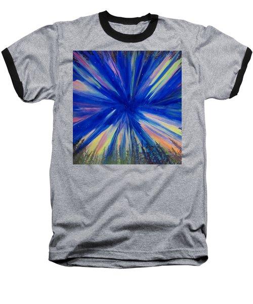 Northern Lights 3 Baseball T-Shirt by Cathy Long