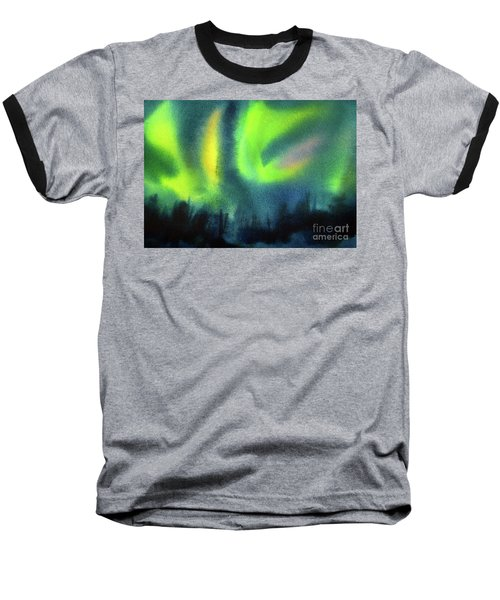 Baseball T-Shirt featuring the painting Northern Lights 3 by Kathy Braud