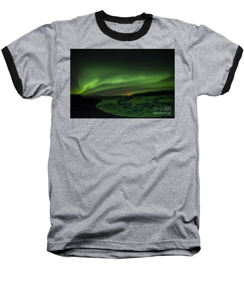 Northern Lights 3 Baseball T-Shirt by Mariusz Czajkowski