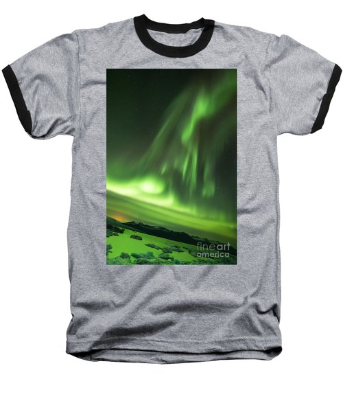 Northern Lights 5 Baseball T-Shirt by Mariusz Czajkowski
