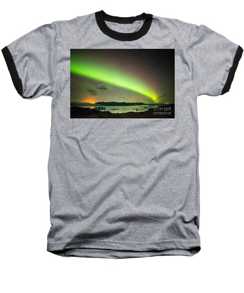 Northern Lights 6 Baseball T-Shirt by Mariusz Czajkowski