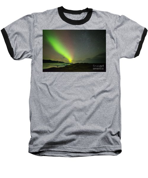 Northern Lights 7 Baseball T-Shirt by Mariusz Czajkowski
