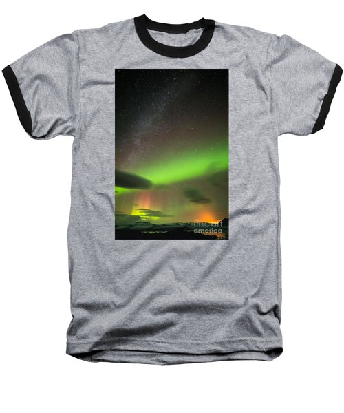 Northern Lights 8 Baseball T-Shirt by Mariusz Czajkowski