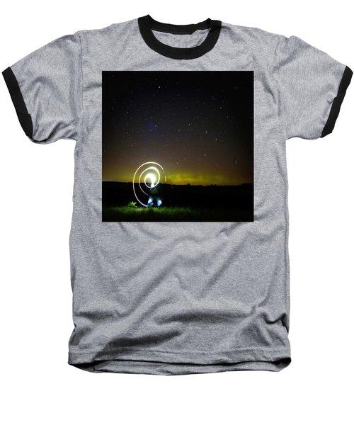 023 - Night Writing Baseball T-Shirt