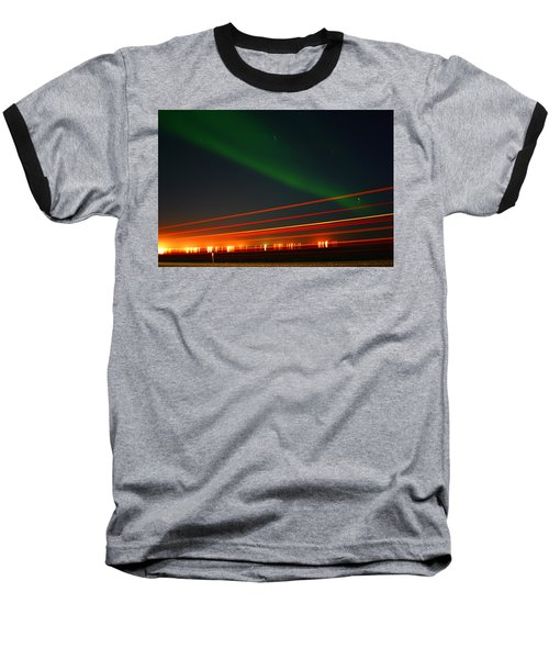 Northern Lights Baseball T-Shirt by Anthony Jones