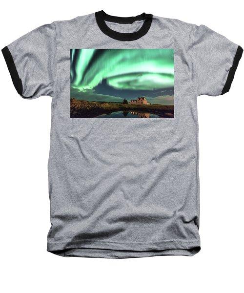 Northern Lights Baseball T-Shirt by Frodi Brinks